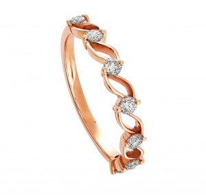 [For Her]: Goldheart Enchantine Eternity Ring; $508