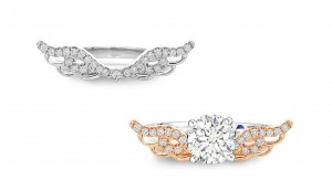 [For Her]: Goldheart Enchantine Wings Ring; $528