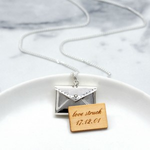 [For Her]: Gifts Less Ordinary Sterling Silver Love Letter Necklace; $149.91