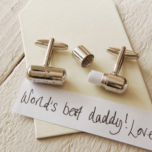 [For Him]: Gifts Less Ordinary Secret Message Cufflinks; $62.61